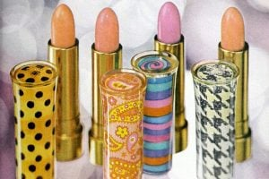 Lip colors and vintage lipsticks from the 60s