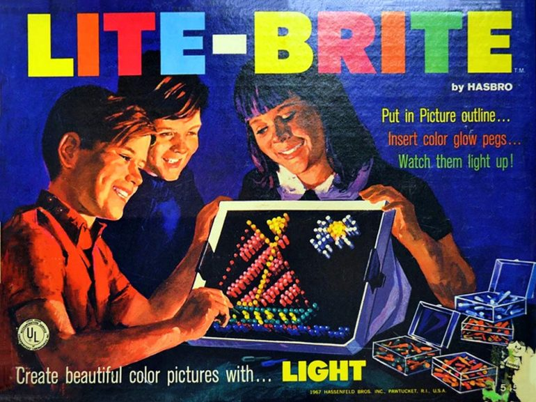 Lite Brite vintage toy from 1967
