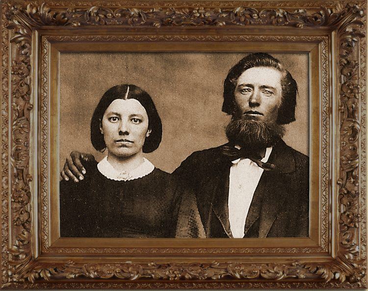 Little House on the Prairie - Mr Mrs Ingalls wedding portrait