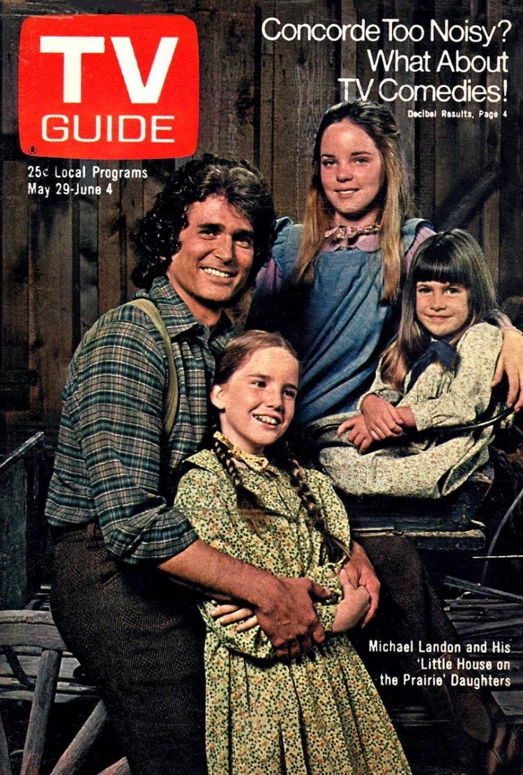 Little House on the Prairie TV guide cover