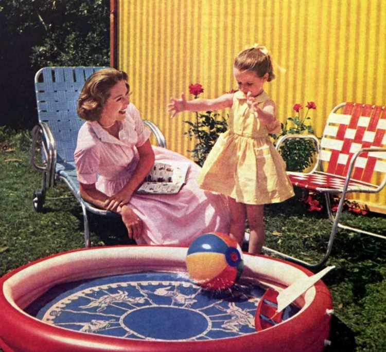 Little blow-up wading pool from the 1950s