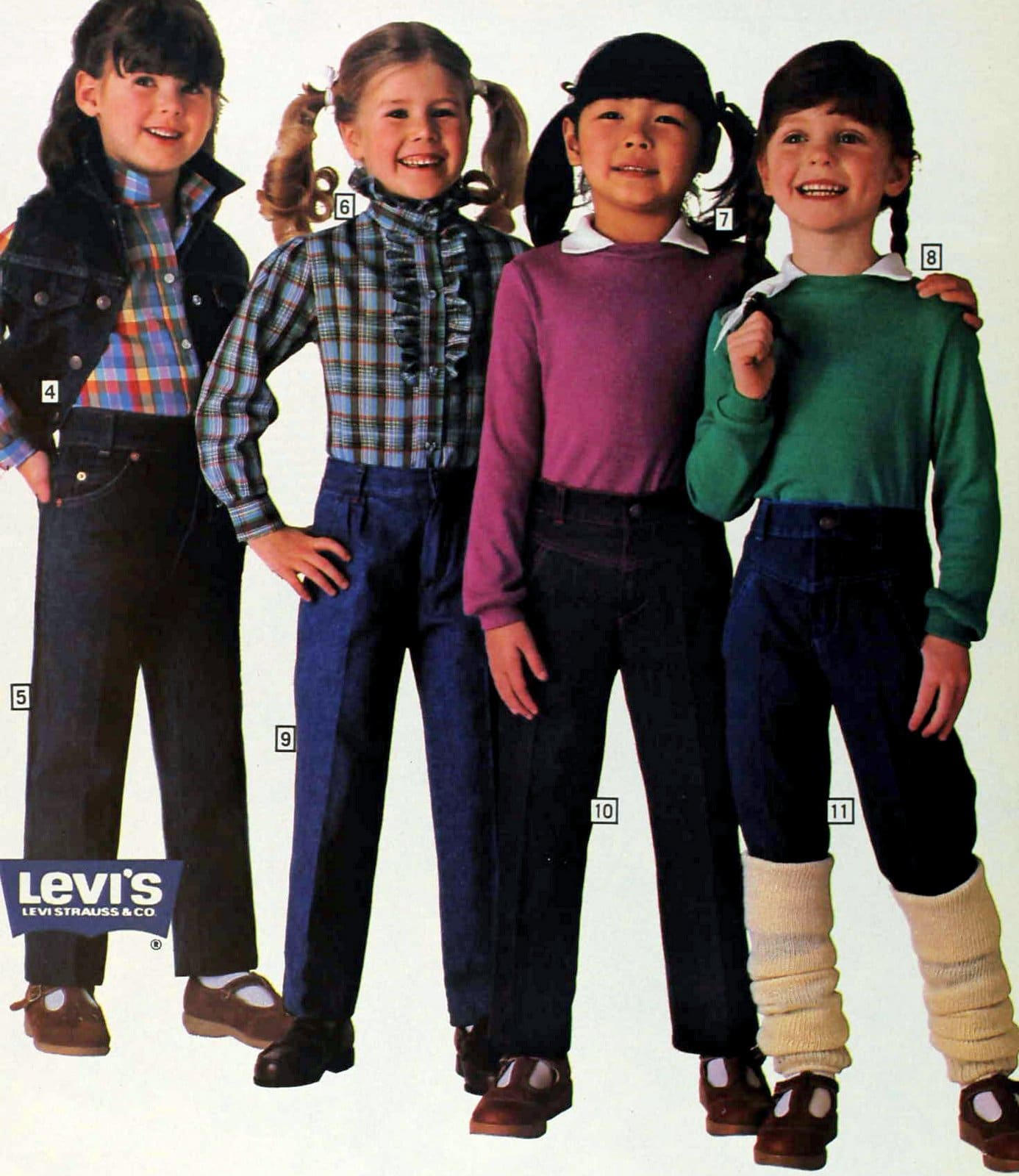 Little girls in outfits from fall 1983