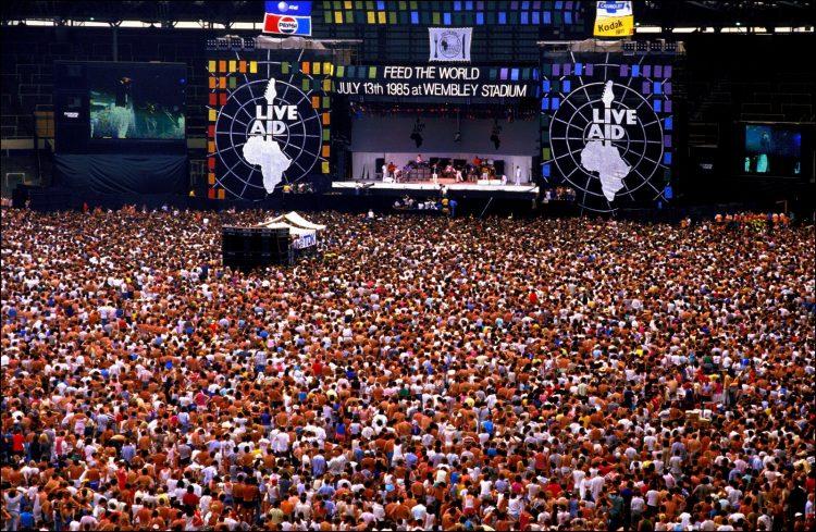 Live Aid concert stadium - London 1985