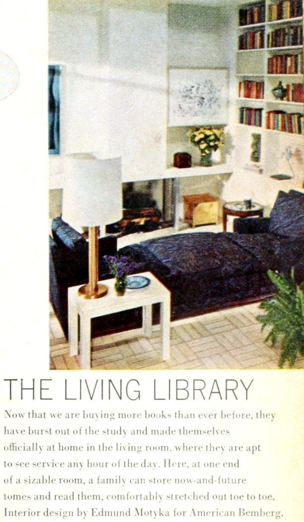 Living room library from 1966 - Vintage home decor and furniture