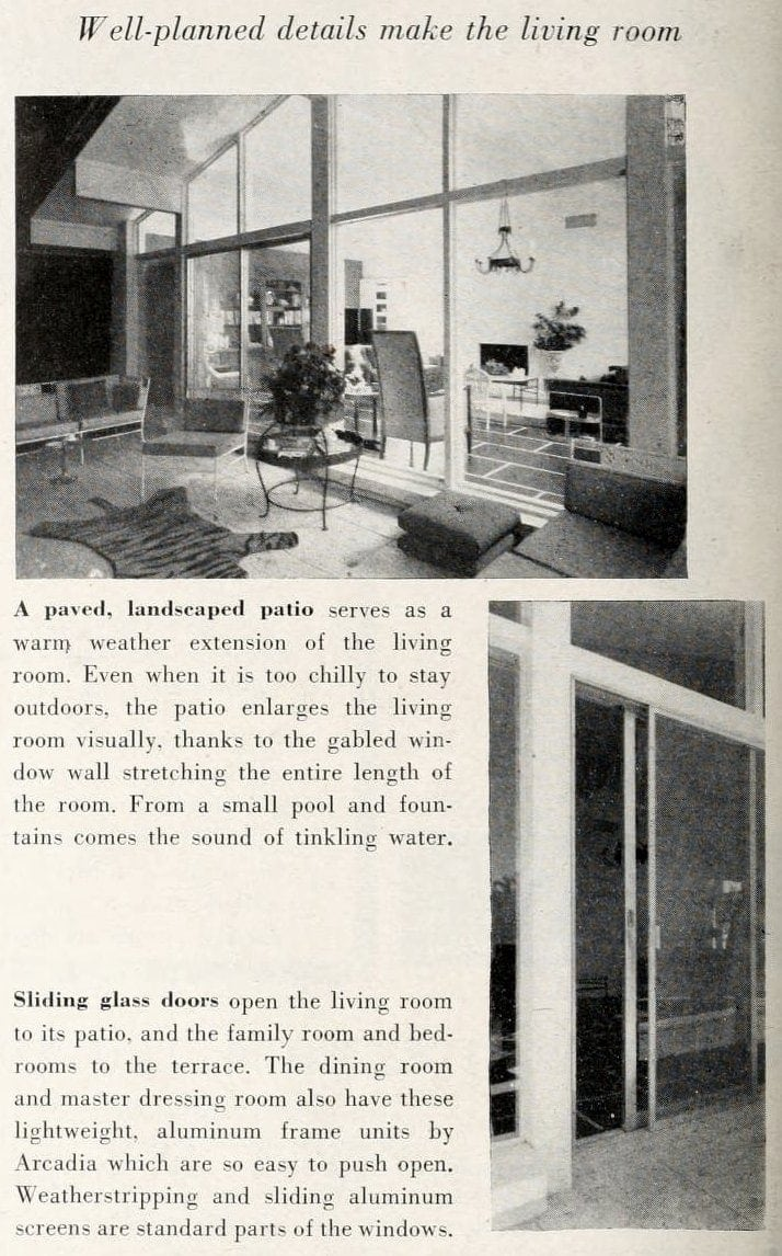 Living room patio - Vintage sixties Scholz Mark 60 house