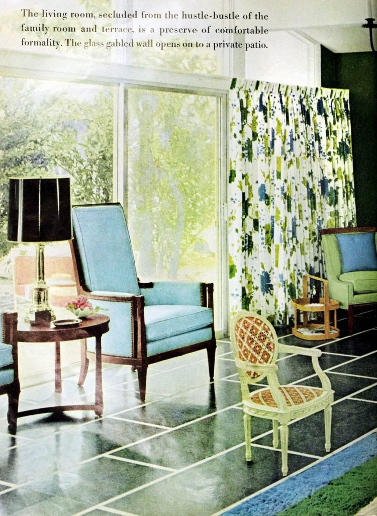 Living room sliding door - Vintage sixties Scholz Mark 60 house