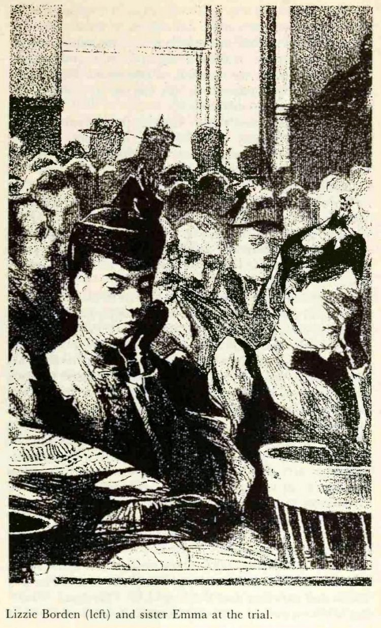 Lizzie Borden in court during her trial