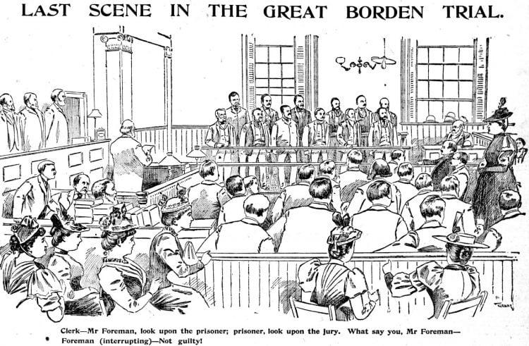 Lizzie Borden murder trial scenes - Boston Globe June 1893 (1)