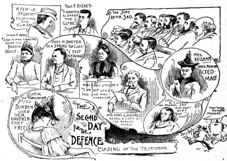 Lizzie Borden murder trial scenes - Boston Globe June 1893 (3)