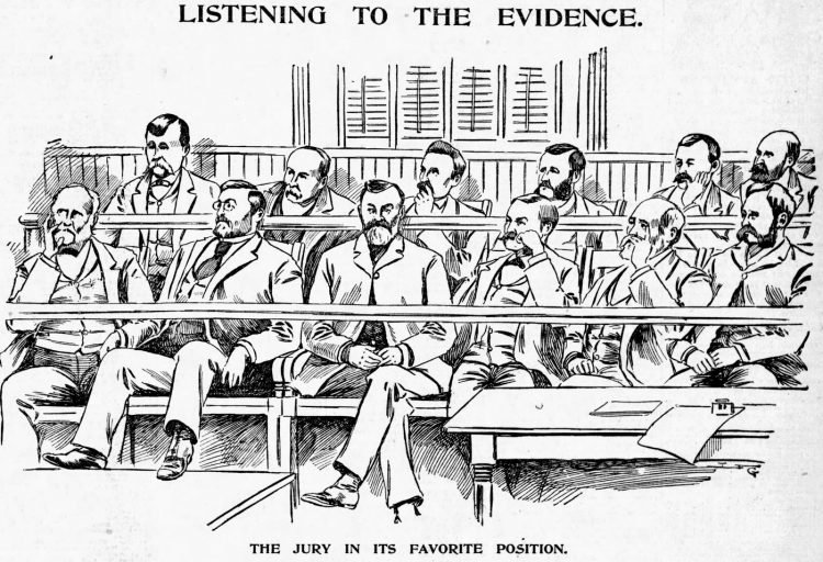 Lizzie Borden murder trial scenes - Boston Globe June 1893 (4)