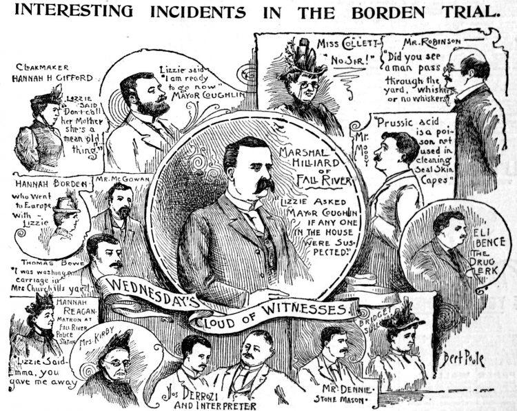 Lizzie Borden murder trial scenes - Boston Globe June 1893 (5)
