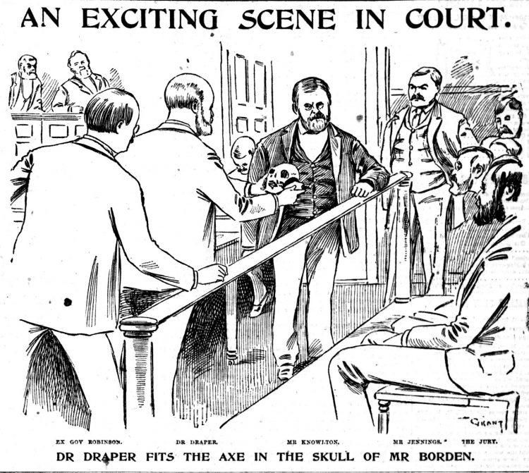 Lizzie Borden murder trial scenes - Boston Globe June 1893 (6)