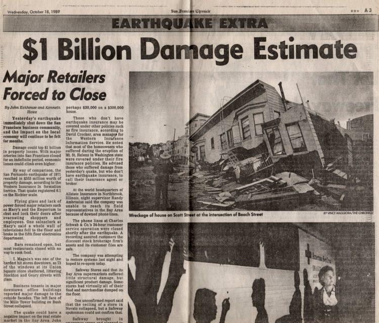 Loma Prieta earthquake - San Francisco Chronicle 1989 (10)