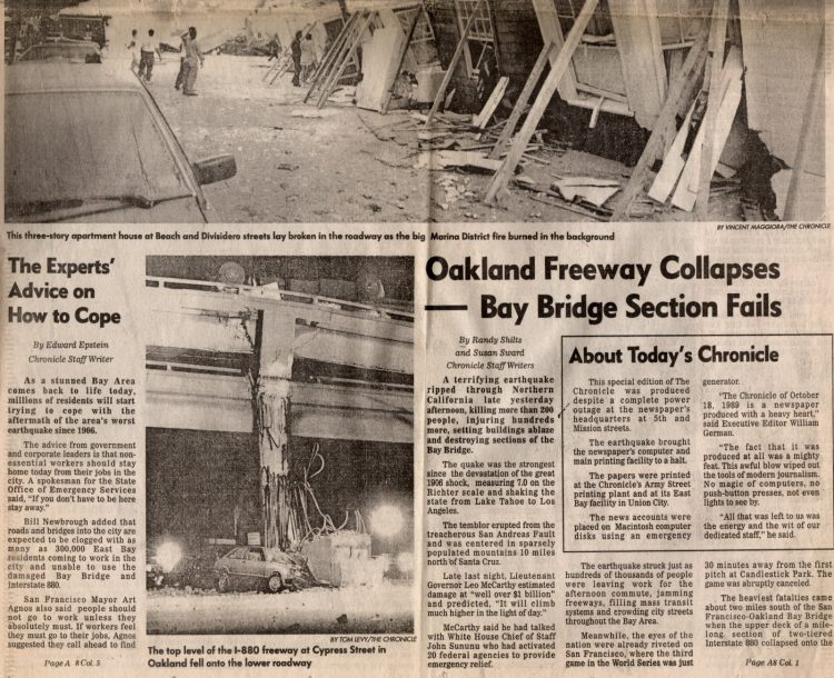 Loma Prieta earthquake - San Francisco Chronicle 1989 (11)