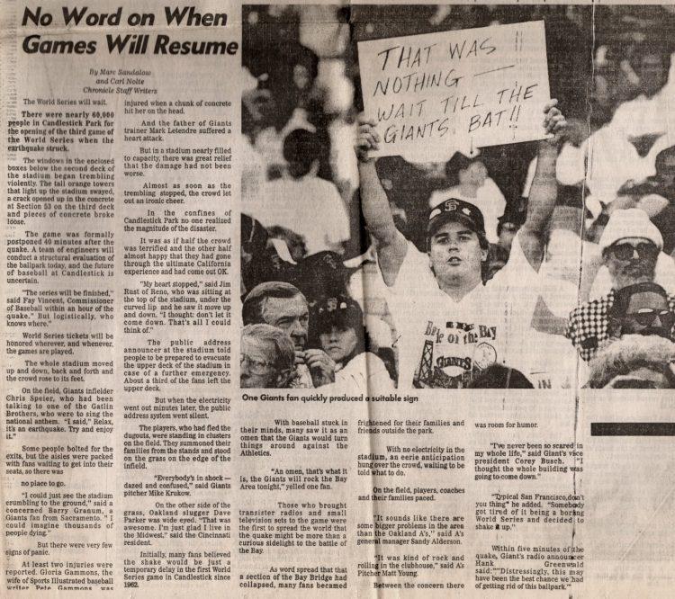 Loma Prieta earthquake - San Francisco Chronicle 1989 (8)