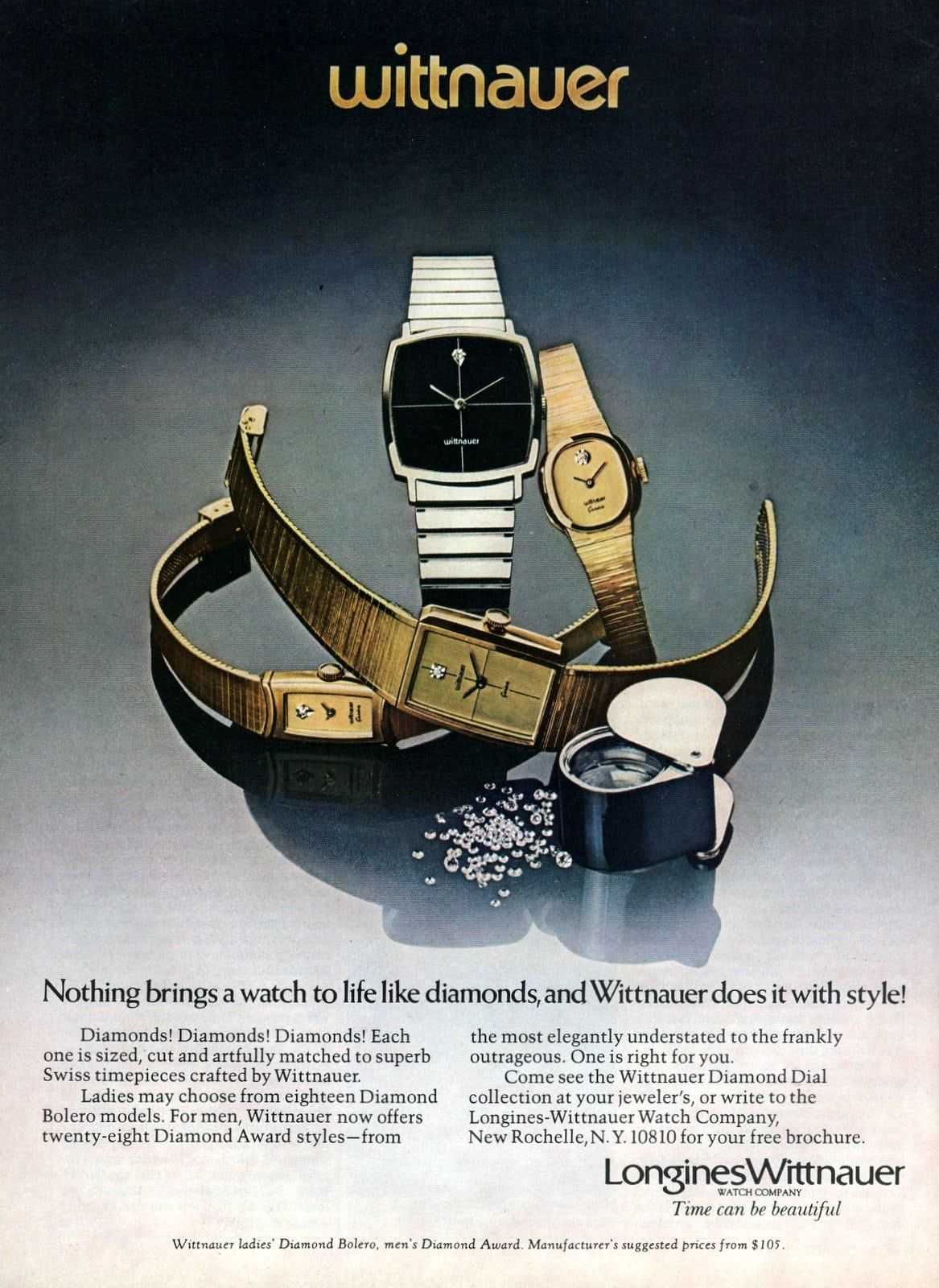 Longines Wittnauer vintage 1970s watches (1977)