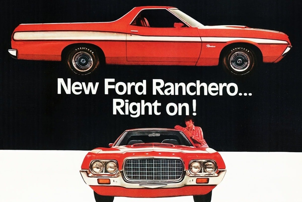 Look back at the old Ford Ranchero trucks