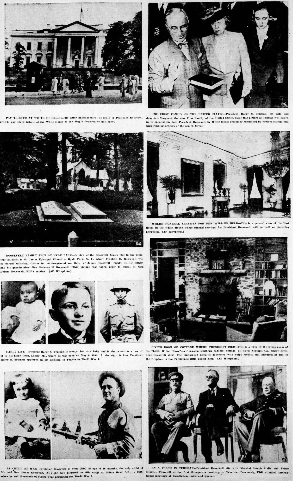 Looking back at Franklin Delano Roosevelt's presidency (1945)
