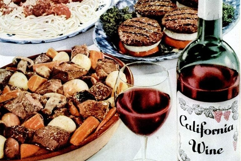 Looking back at vintage California wines from the 40s-50s