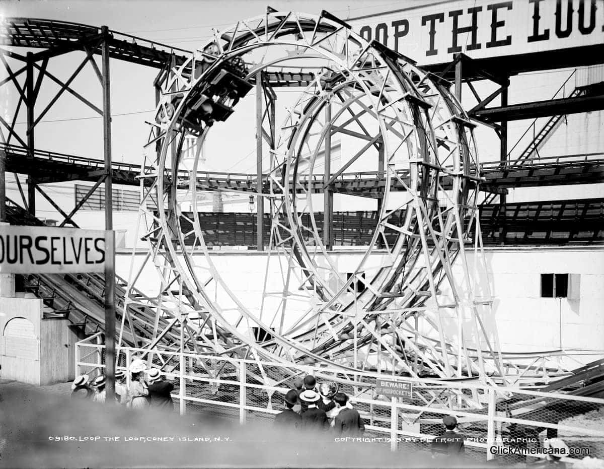 Roller coasters of the early 20th century