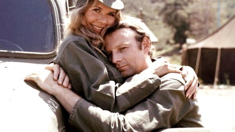 Loretta Swit and Larry Linville in MASH