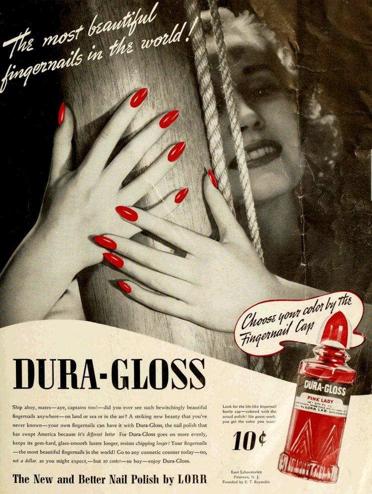 Lorr Dura-Gloss vintage nail polish 1940