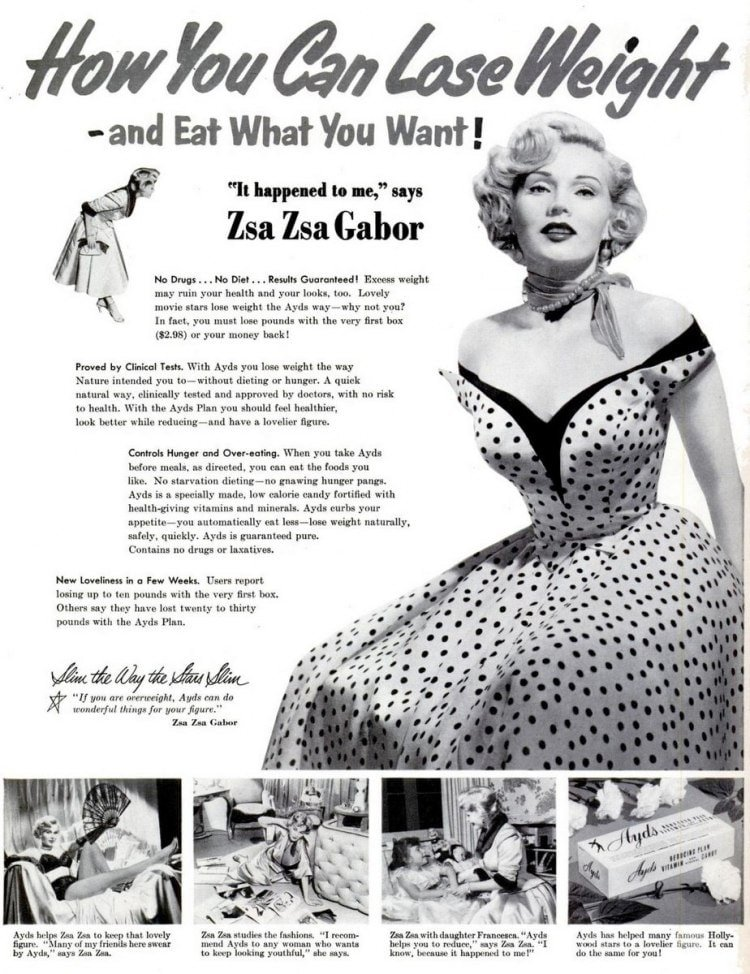 Lose Weight With Zsa Zsa Gabor 1953 Click Americana