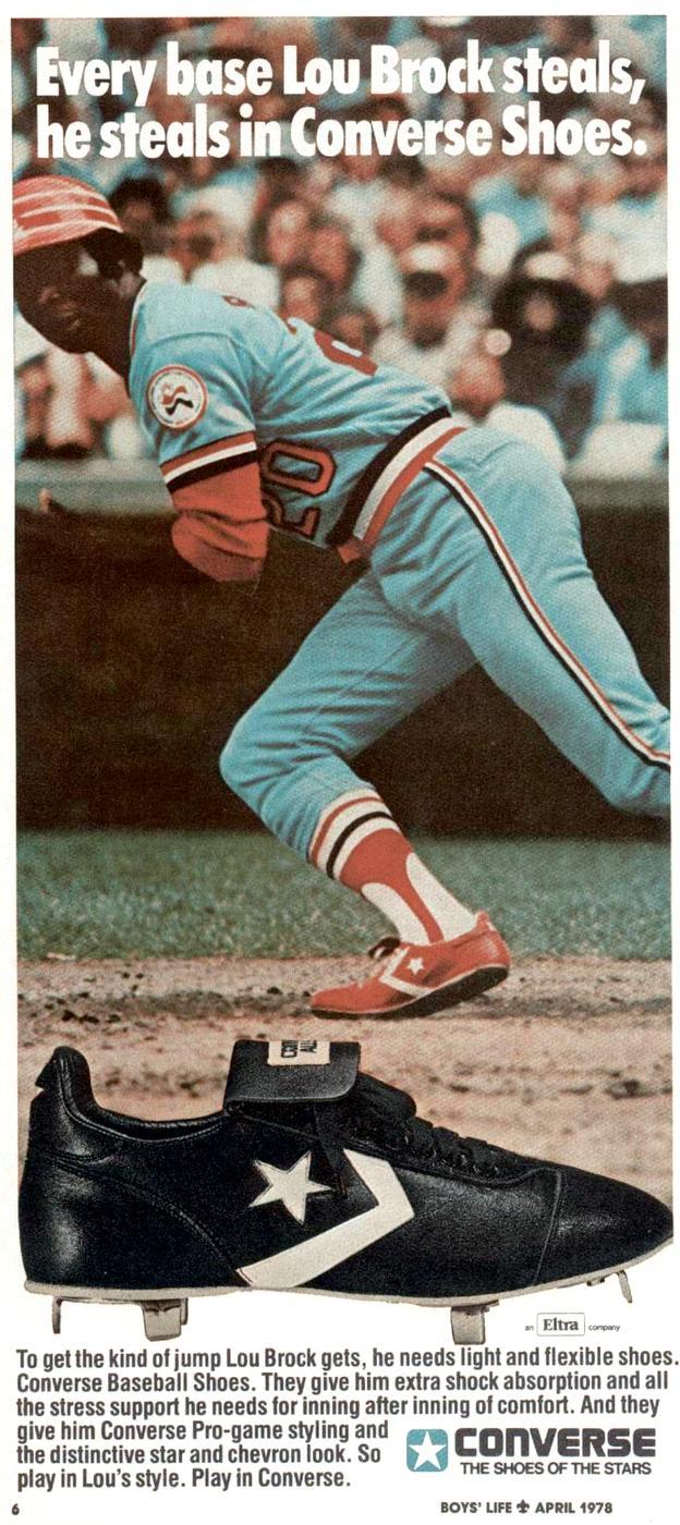 Lou Brock - Retro Converse baseball shoes 1978