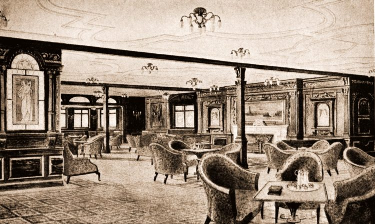 Lounge on the Titanic ship