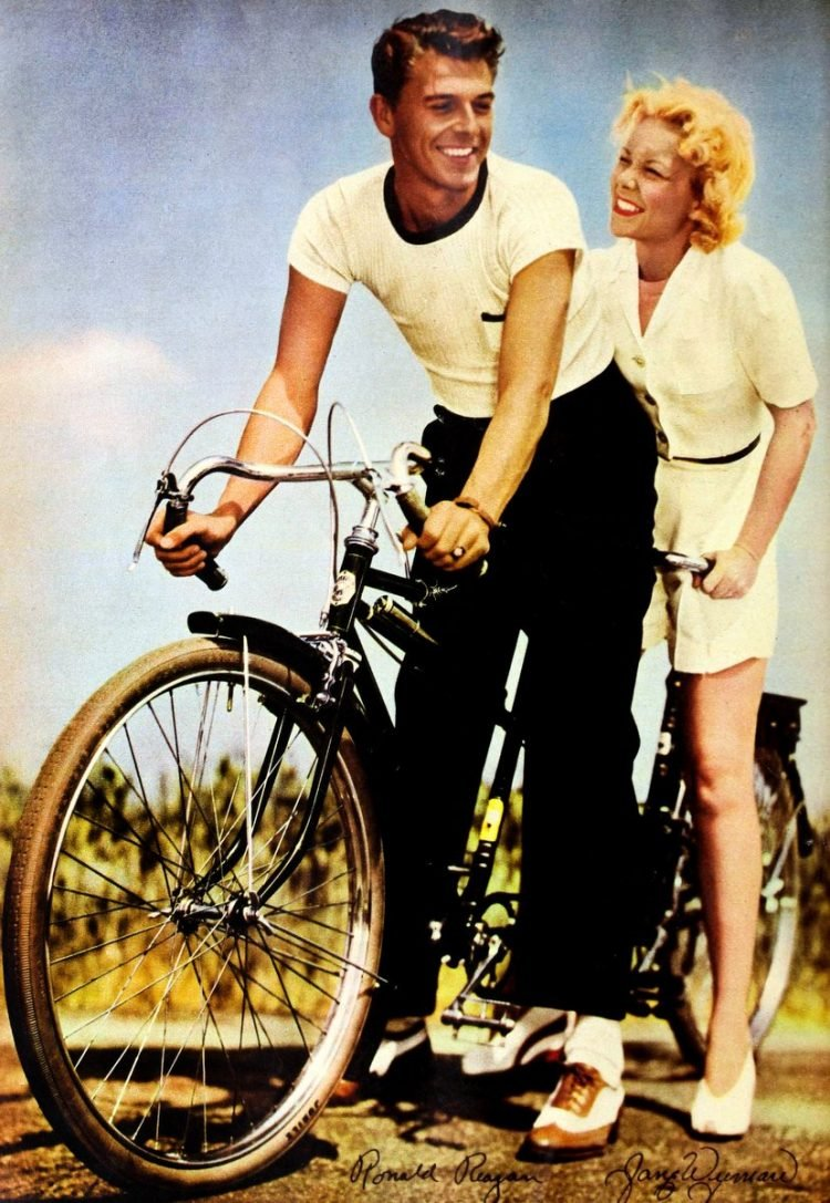 Love among the Reagans Life with Ronald Reagan in 1942 bicycle
