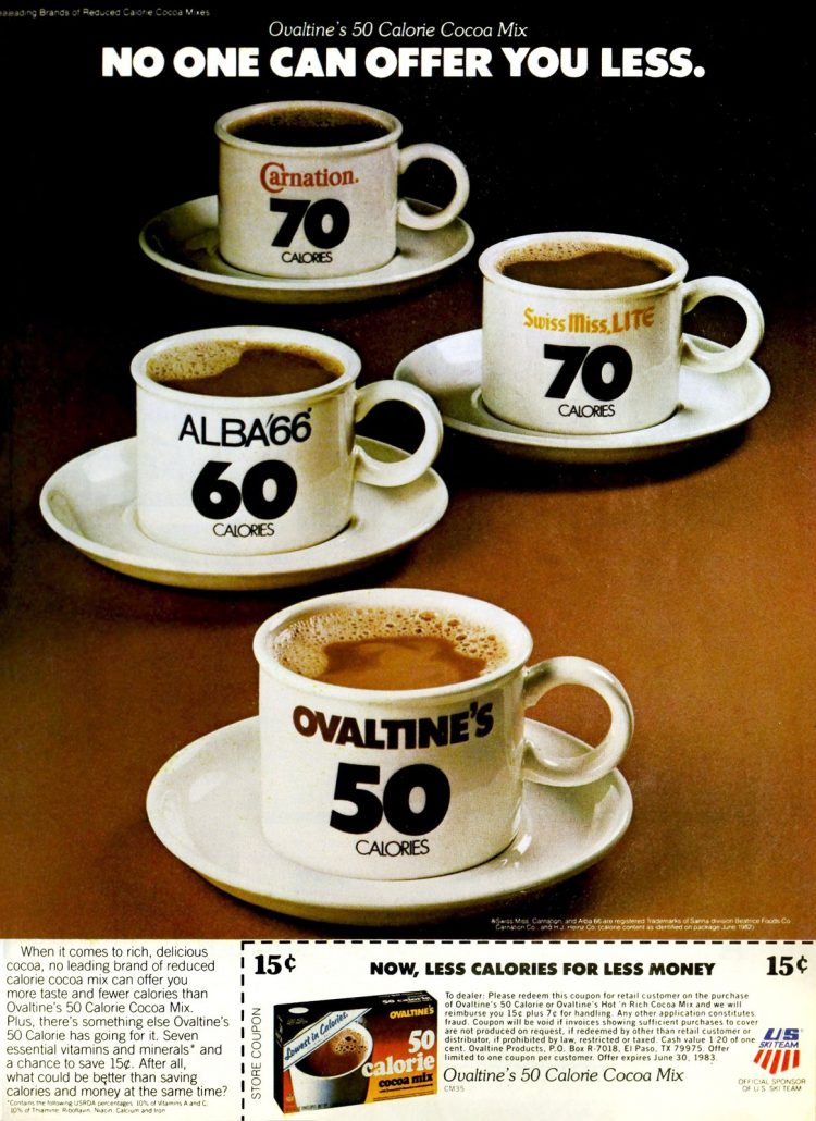 Low-calorie Ovaltine packets (1983)