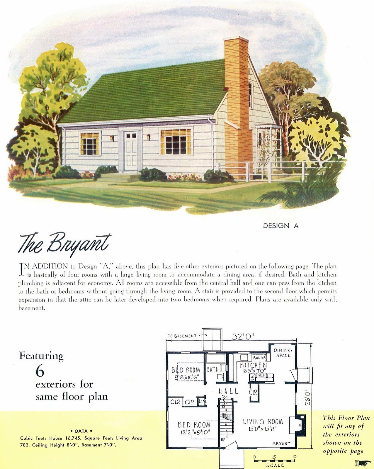 Low-cost small midcentury home plans from 1952 (2)