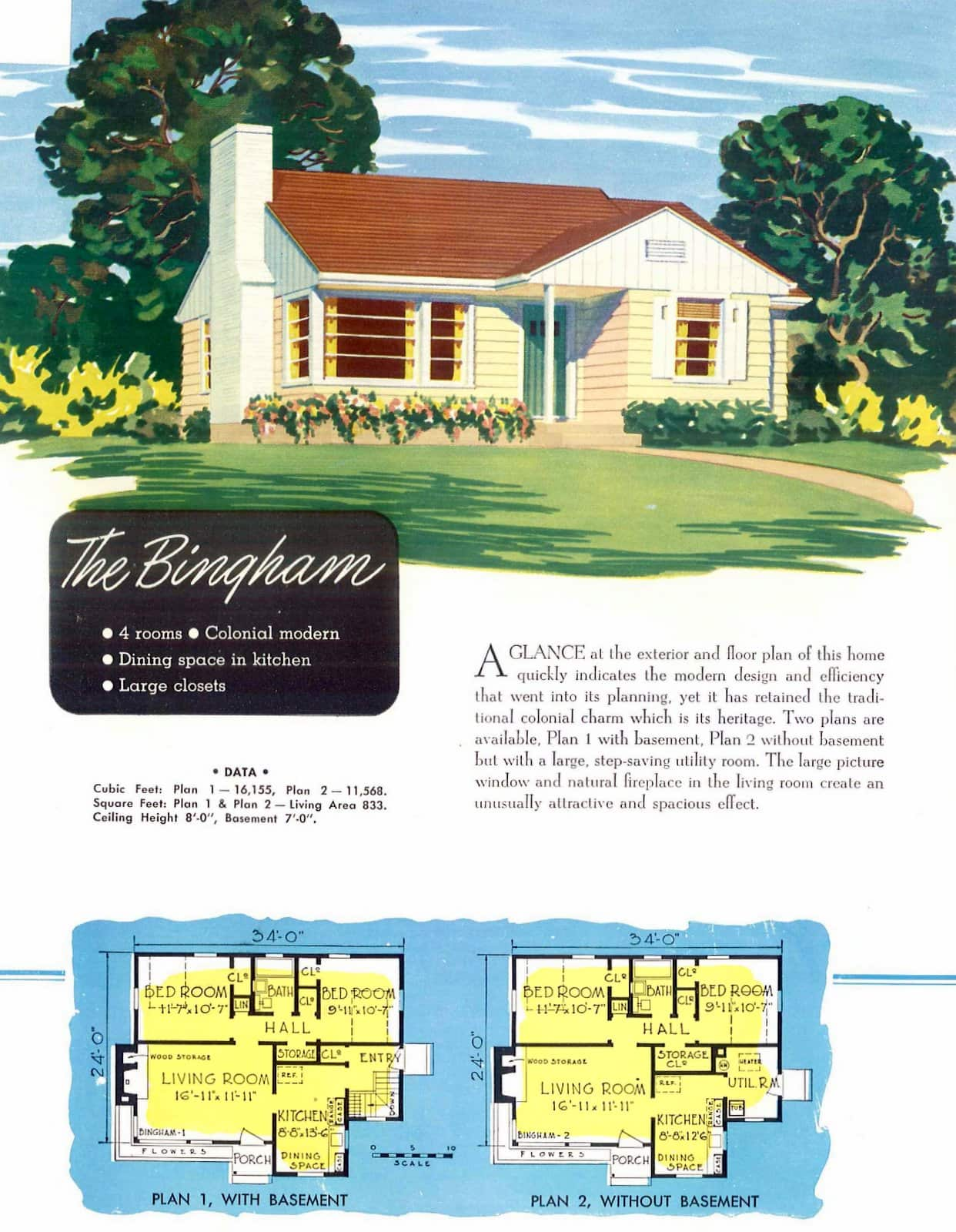Low-cost small midcentury home plans from 1952 (3)