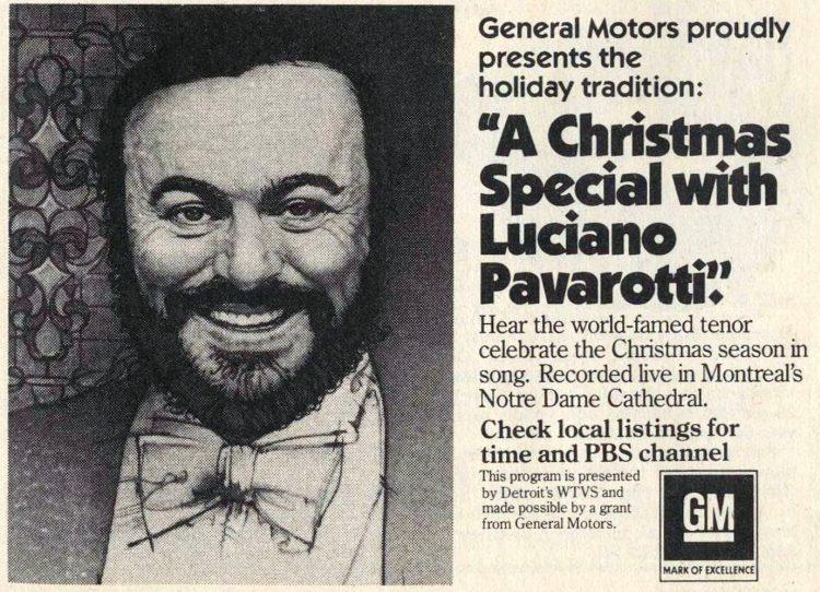 Luciano Pavarotti TV special 1982
