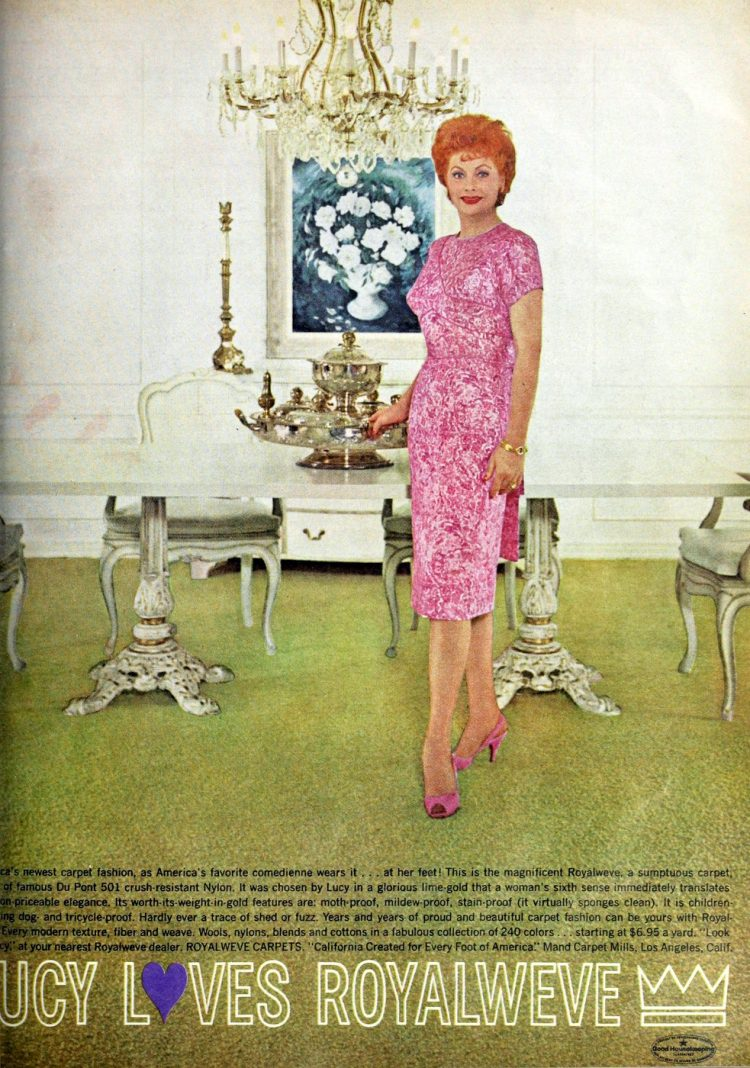Lucy loves Royalweve carpet - Lucille Ball in 1962 (1)