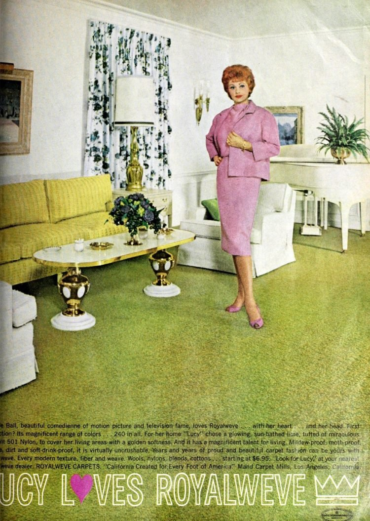 Lucy loves Royalweve carpet - Lucille Ball in 1962 (2)