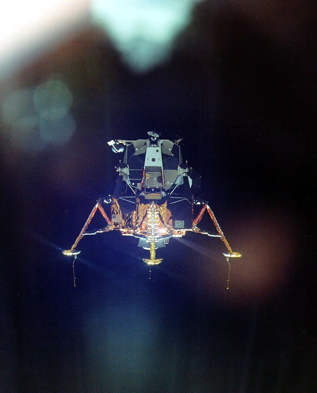 Lunar module inspection after undocking