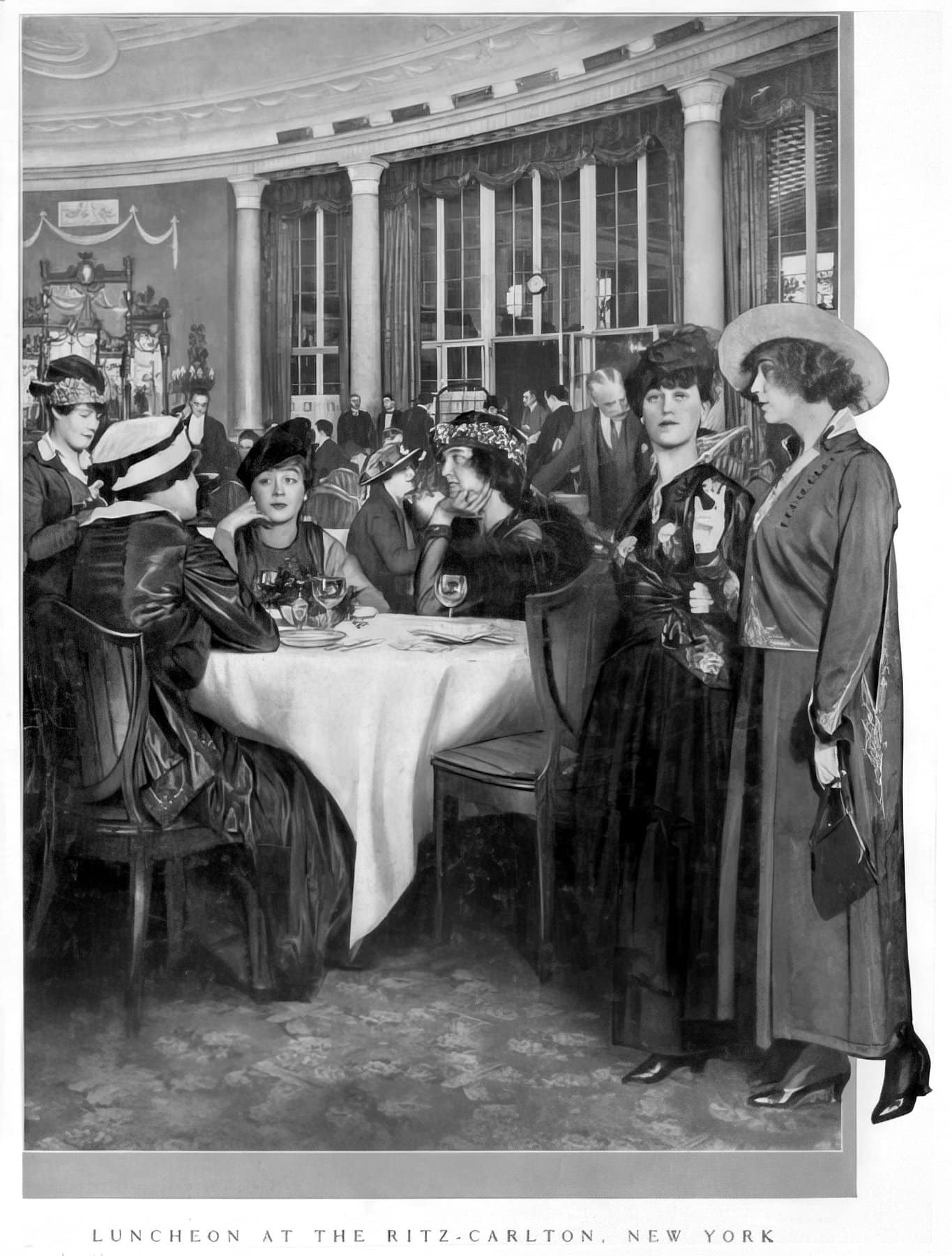 Luncheon at the old Ritz-Carlton Hotel in New York (1915) - ClickAmericana com