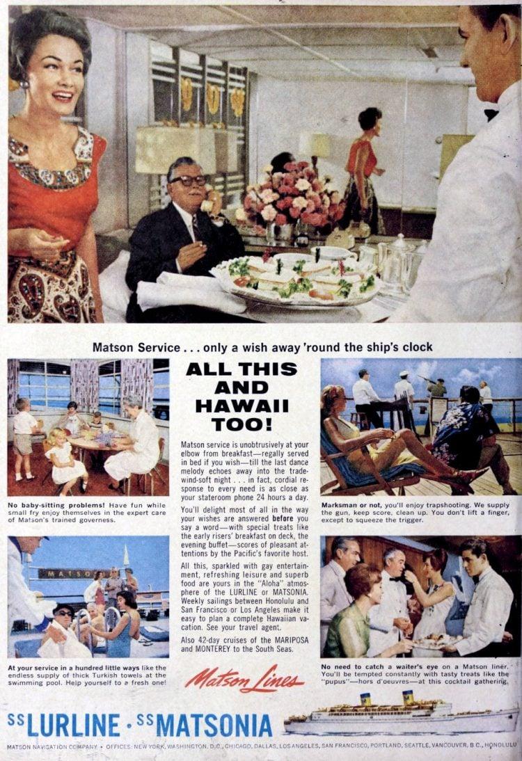 Lurline matsonia retro cruise trips 1960