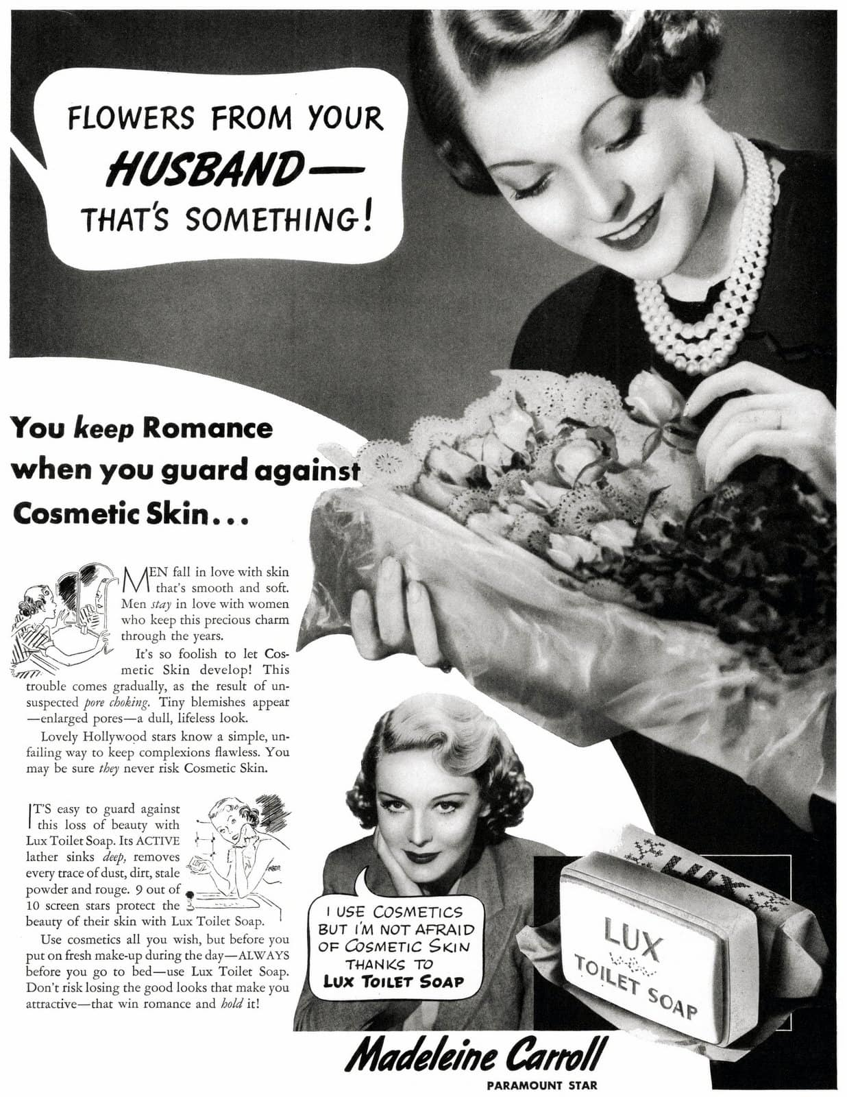 Lux toilet soap for 30s beauty (1937)