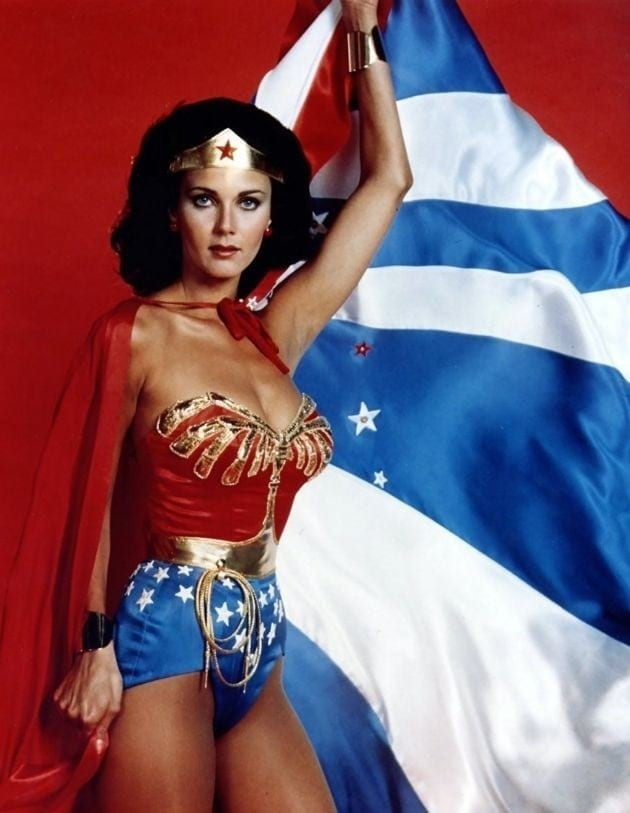 Wonder Woman sexy, but patriotic (1977)