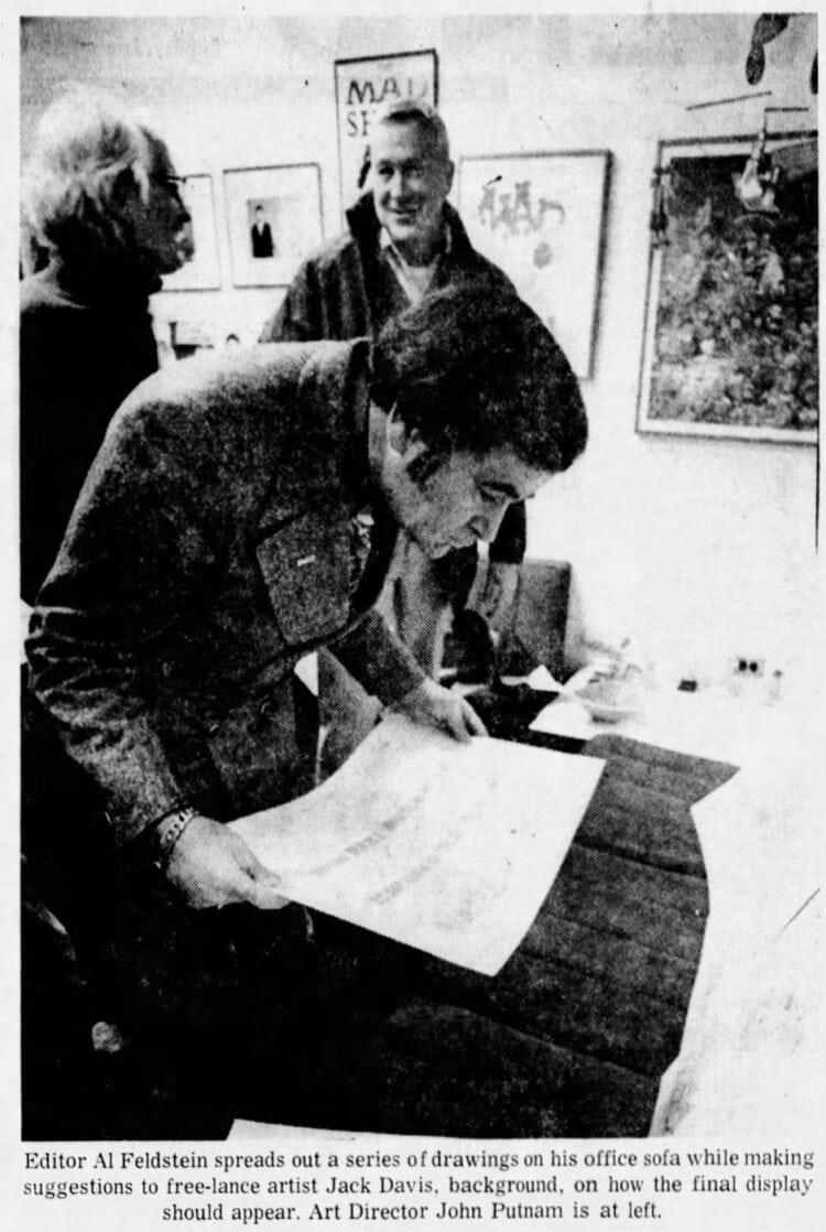 Vintage MAD magazine - Editor Al Feldstein in 1972