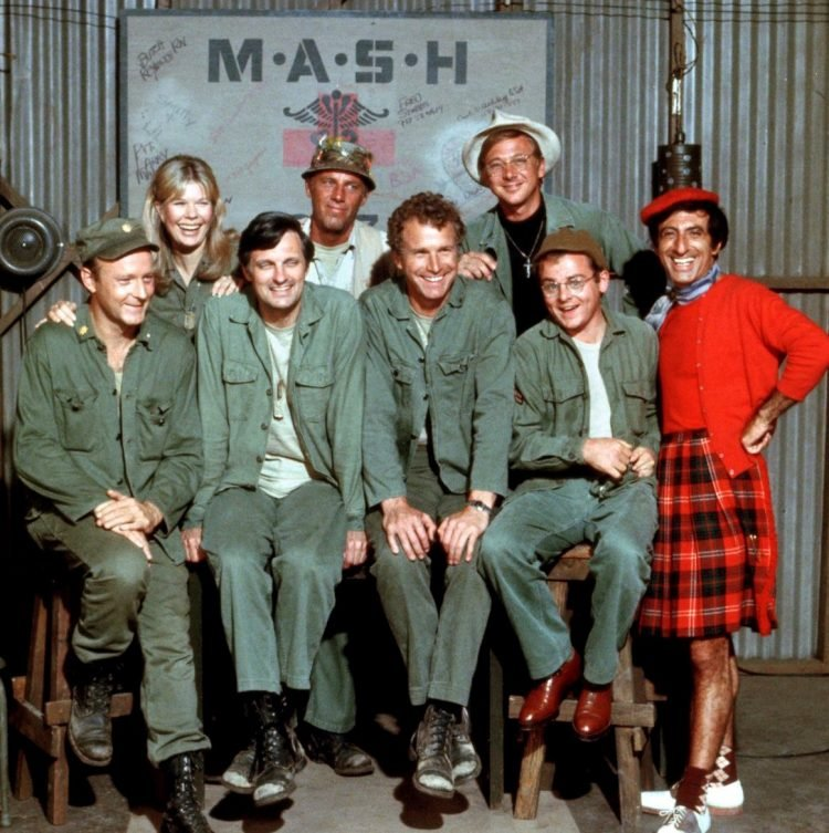 MASH cast posed group shot