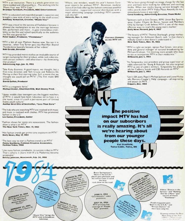 MTV's 5th birthday celebrated in Billboard 1981-1986 (5)