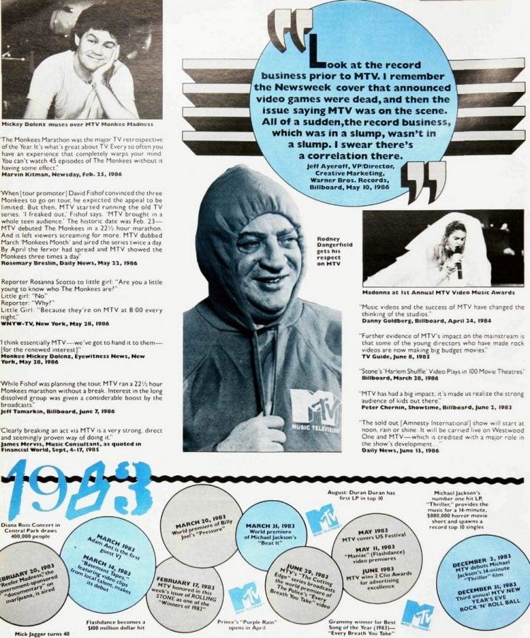 MTV's 5th birthday celebrated in Billboard 1981-1986 (6)