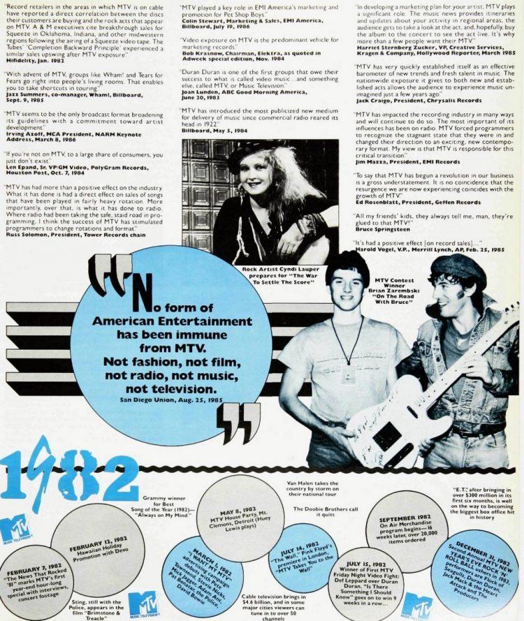 MTV's 5th birthday celebrated in Billboard 1981-1986 (8)