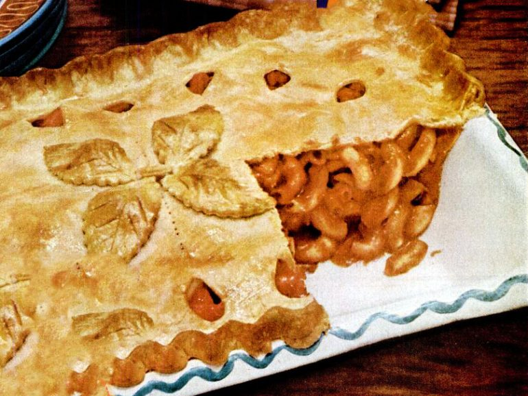 Macaroni pie vintage 50s recipe