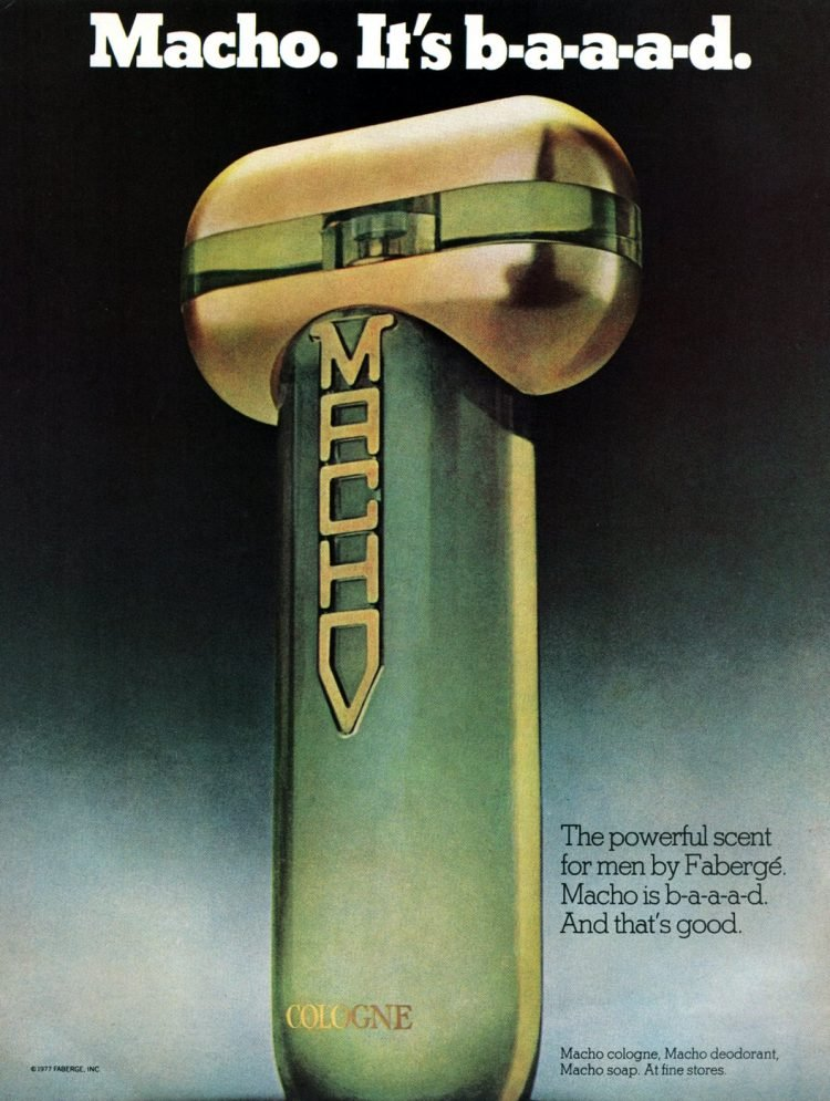 Macho after shave from 1977 - Bad retro product names at Click Americana