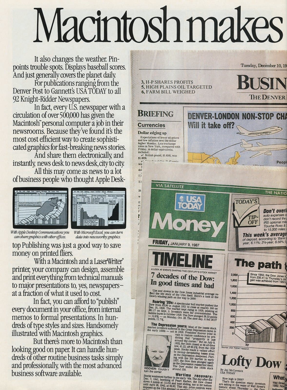 Macintosh makes the financial page - Apple computers 1987 (1)