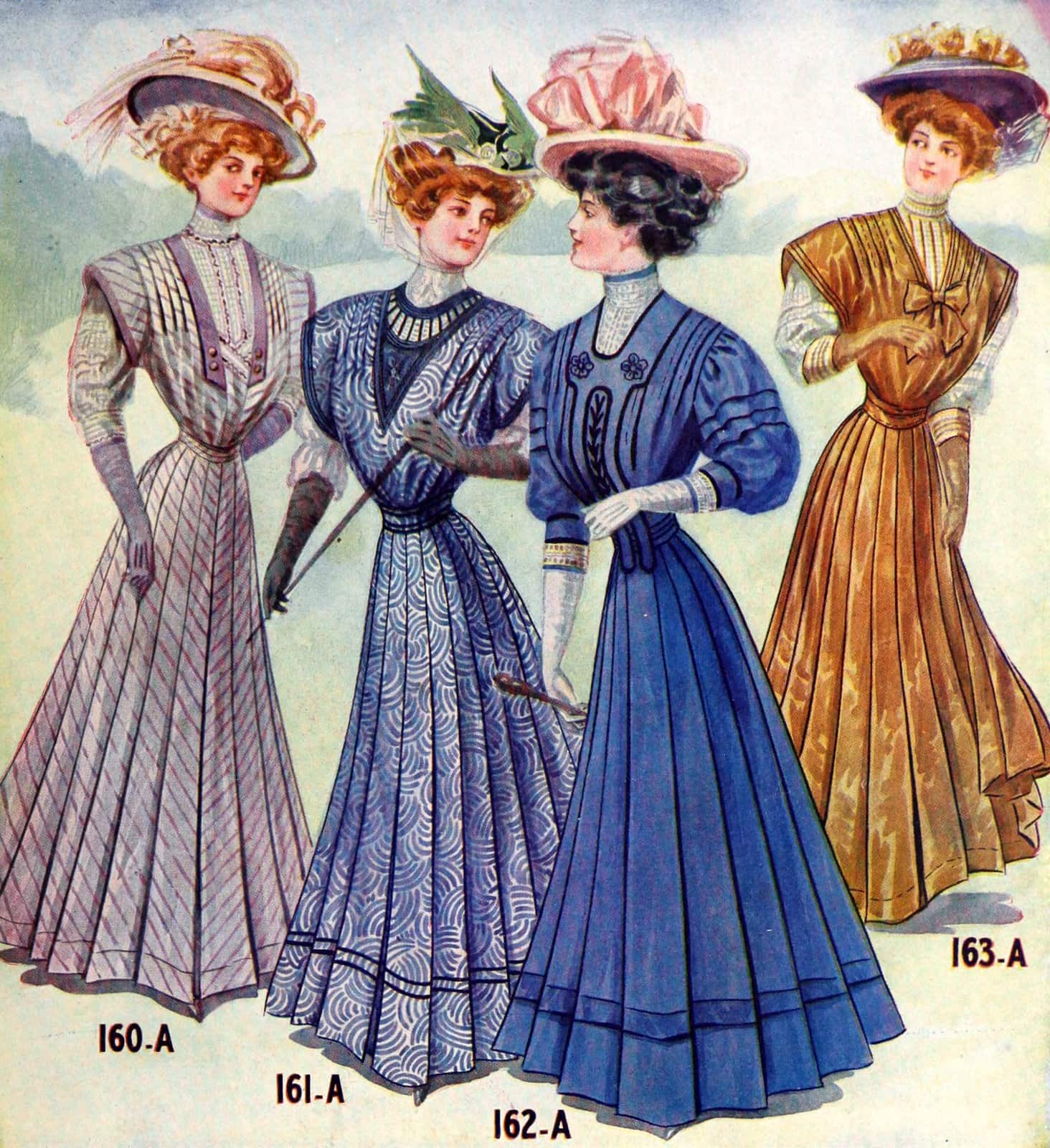 Macy's vintage clothing for women in 1908